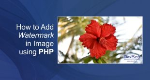 How to Add Watermark in Image using PHP